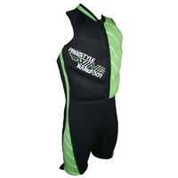 Freestyle Barefoot Suit - Green Linear