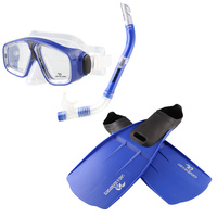 Adventure Snorkle Set MEDIUM - Blue