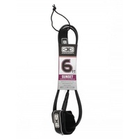 O&E Sunset 6' Leash - BLACK