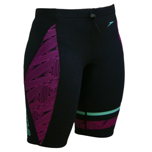 Speedo Ladies Neo Shorts - Black & Pink - 26
