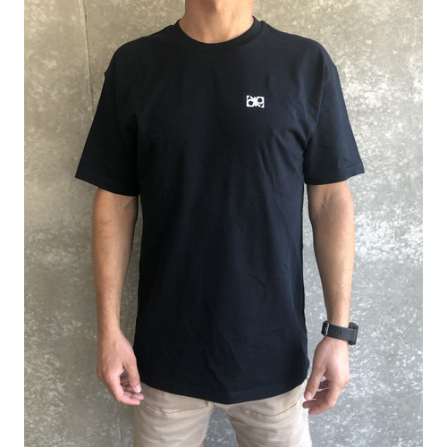 Double Up Block T Shirt Navy